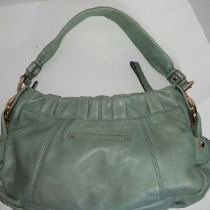 B. Macowksy Sage Green Leather bag with RoseGold